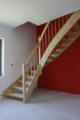 Negyedfordulós lépcső képek - Galler lépcső